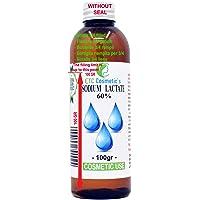 Sodium lactate 60% | Natriumlactaat 60% - 100 gr (Fles, 3/4 gevuld) - Gebruik Voor zeep, helpt het om een hardere reep…