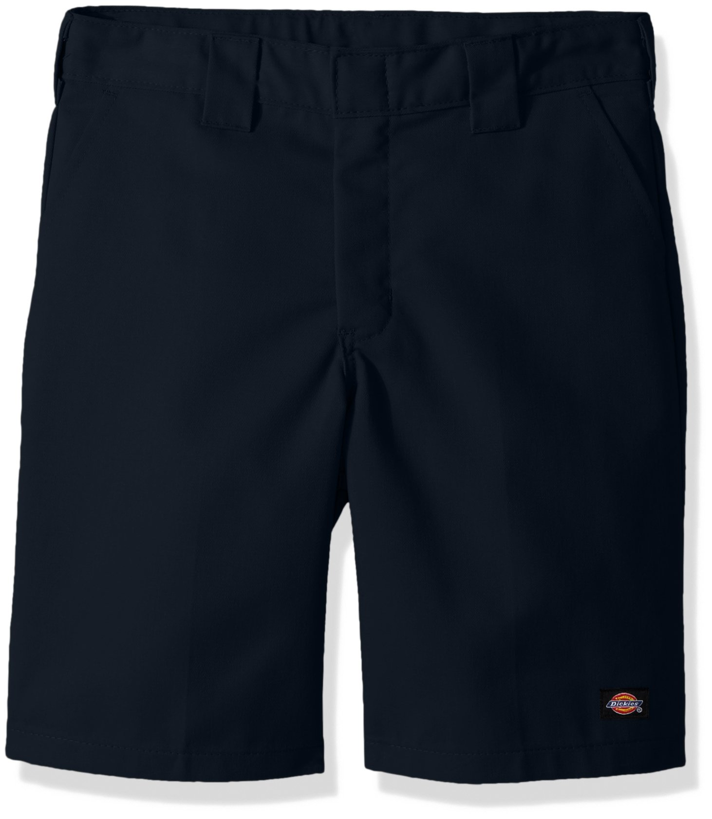 Dickies Husky Boys' Flexwaist Flat Front Short W/Extra Pocket, Dark Navy, 10H