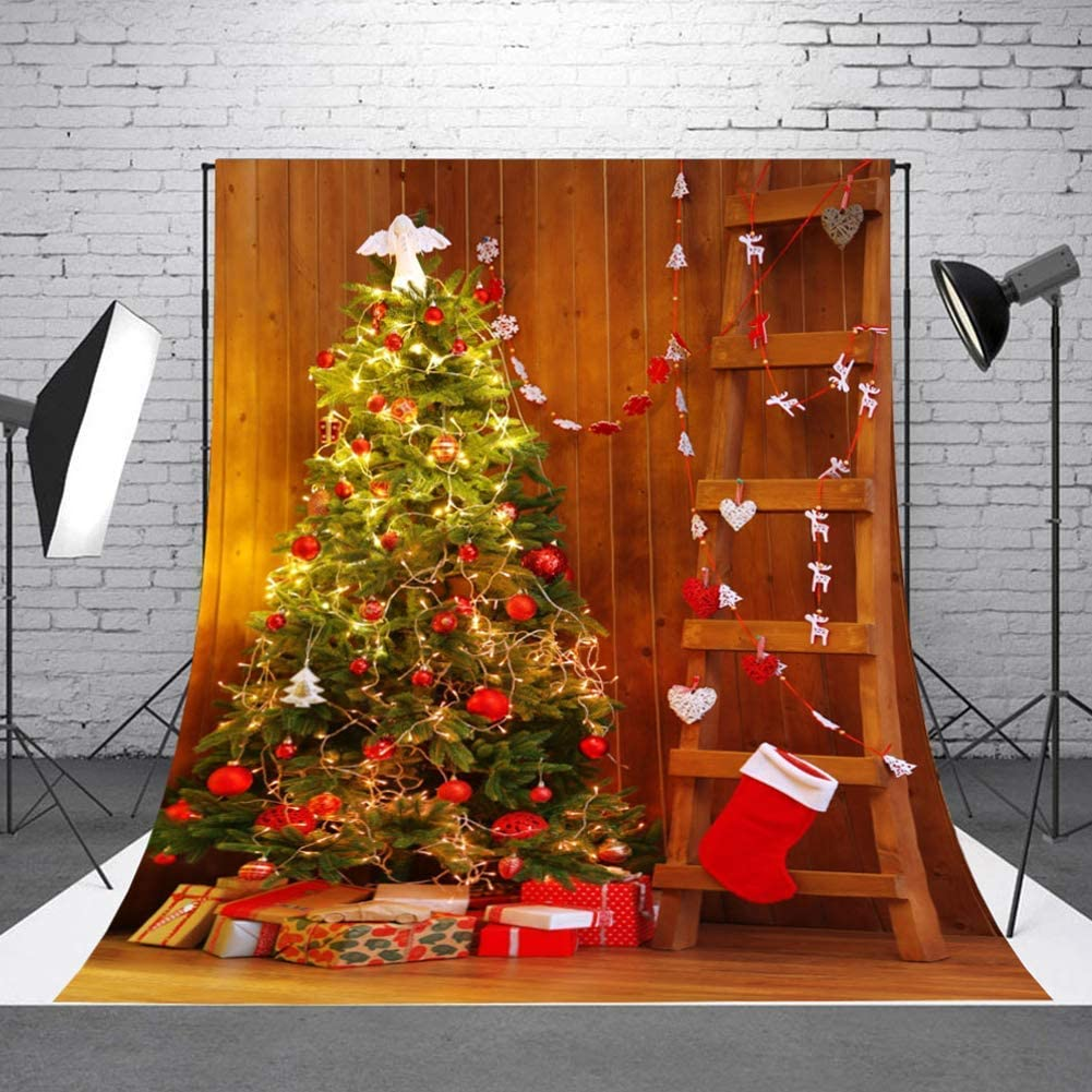 CdHBH 10x12ft Christmas Theme Christmas Tree Lanterns and Gifts Portrait Costume Photography Photography Background Cloth Festival Venue Party Arrangement Photo Studio Studio Photography Props