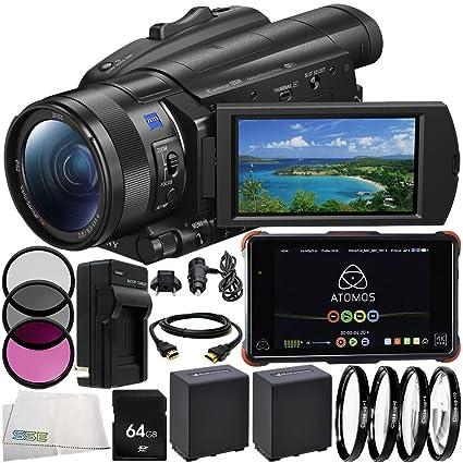 Amazon.com : Sony FDR-AX700 4K Camcorder Atomos Ninja Flame ...