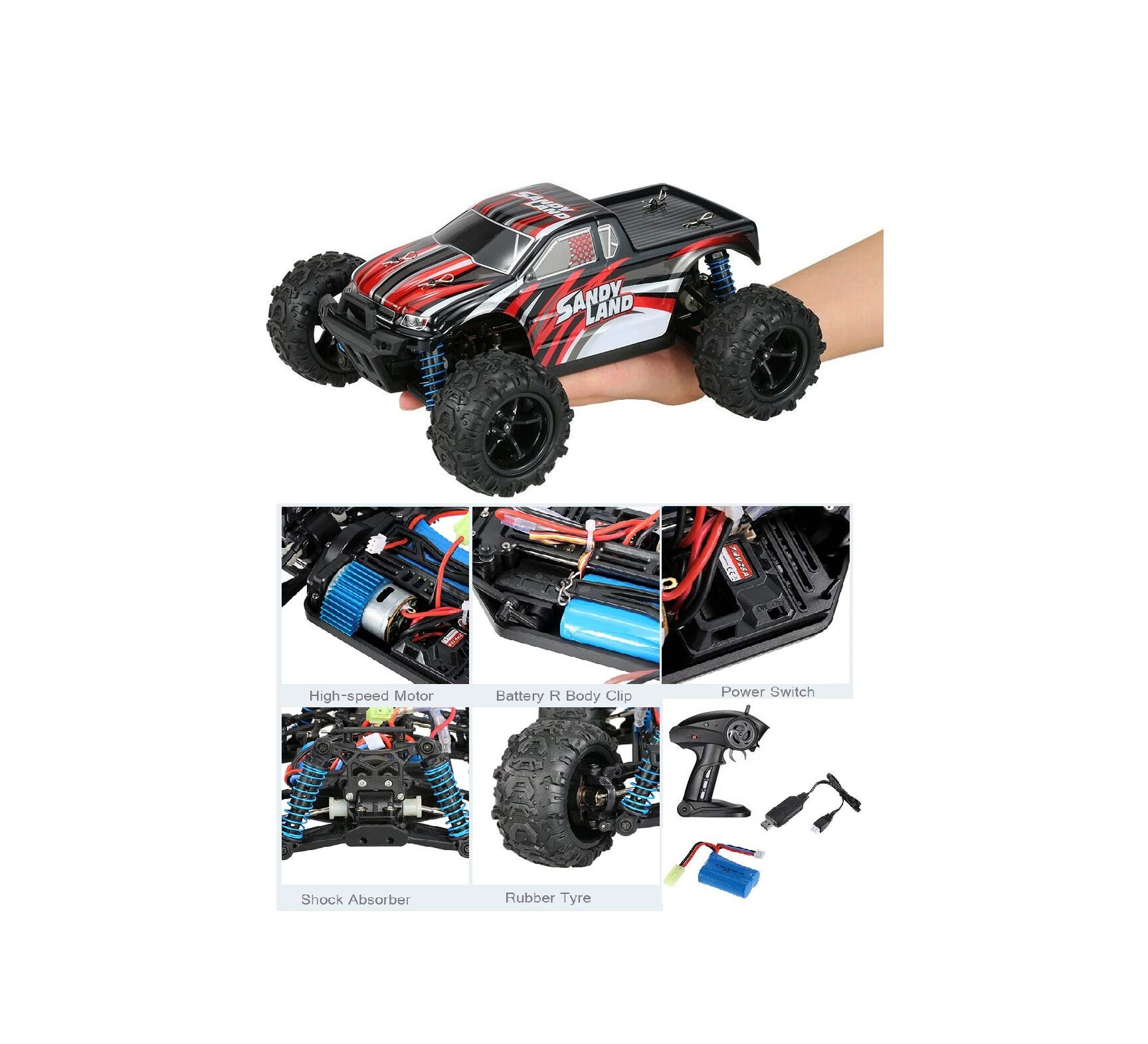 Hobby RC Sport 1:18 2.4G 4WD Electric Sandy Land Truck RC Car E01M09 Cute Gift Quick Arrive