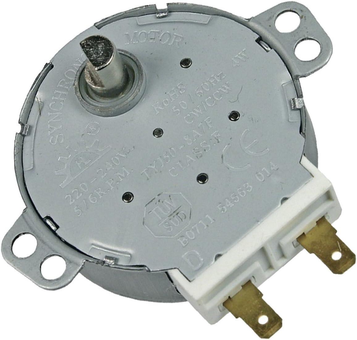 Motor de bandeja giratoria para horno microondas 481067848981, C00313149 Whirlpool IKEA WHIRLPOOL, BAUKNECHT, KITCHENAID, ARISTON HOTPOINT, IGNIS, INDESIT