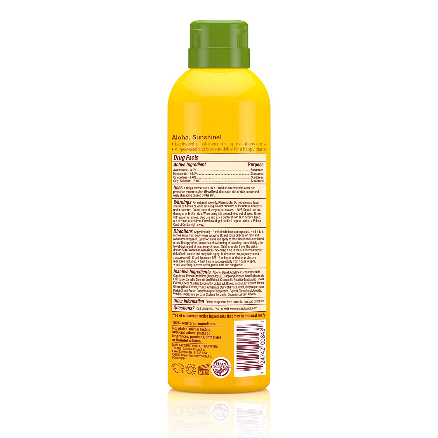 Ingredients Of Early Success >> Amazon Com Alba Botanica Tropical Fruit Clear Spray Kids Spf 50