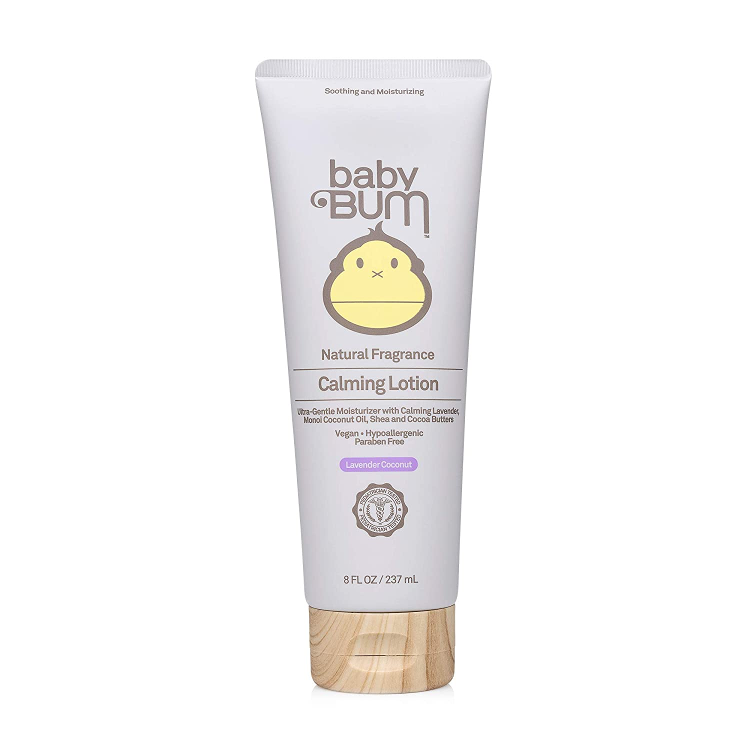 Baby Bum Calming Lotion | Moisturizing Baby Body Lotion for Sensitive Skin with Shea and Cocoa Butter| Lavender Coconut Fragrance| Gluten Free and Vegan | 8 FL OZ