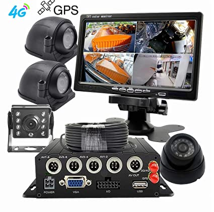 WeniChen 4G GPS MDVR Kit para Bus Truck Car Security - 960P ...