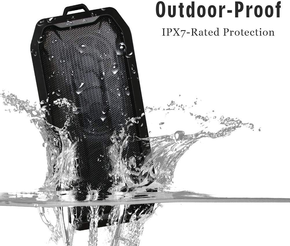 AOOK Portable Bluetooth Speaker Bigger bass and Sound Perfect for Outdoor Activities and Sports and Cycling IPX-7 Splashproof Black