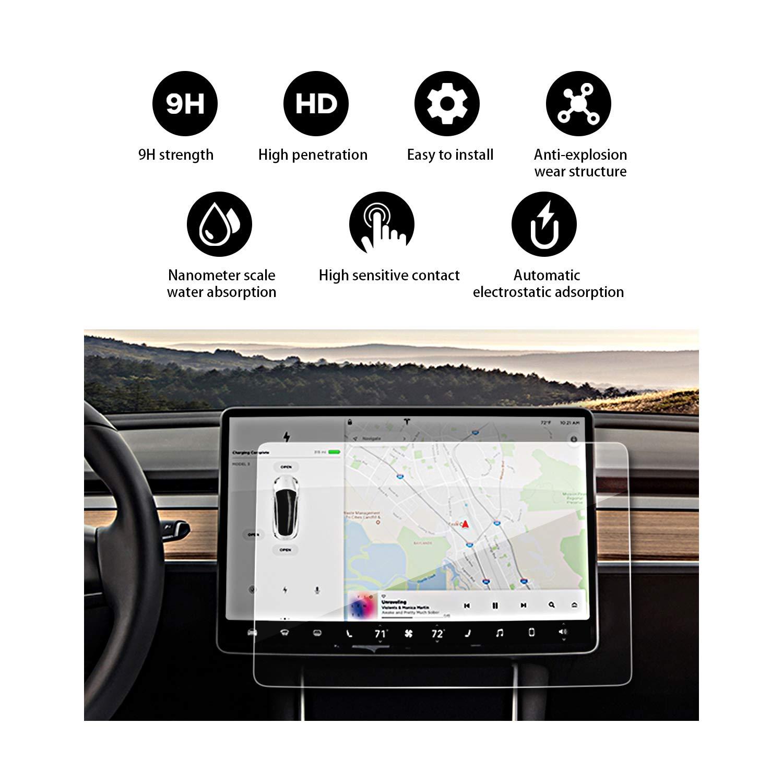 (1 Pack) YEE PIN 2018 Tesla Model 3-15 Inch in-Dash