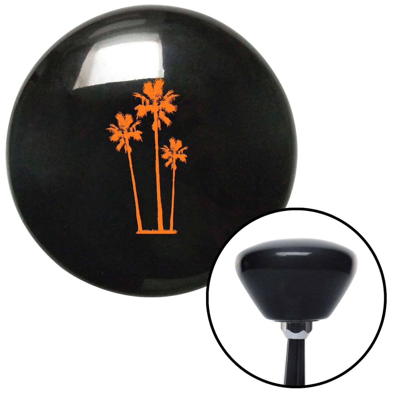 American Shifter 145002 Black Retro Shift Knob with M16 x 1.5 Insert Orange Group of Palms