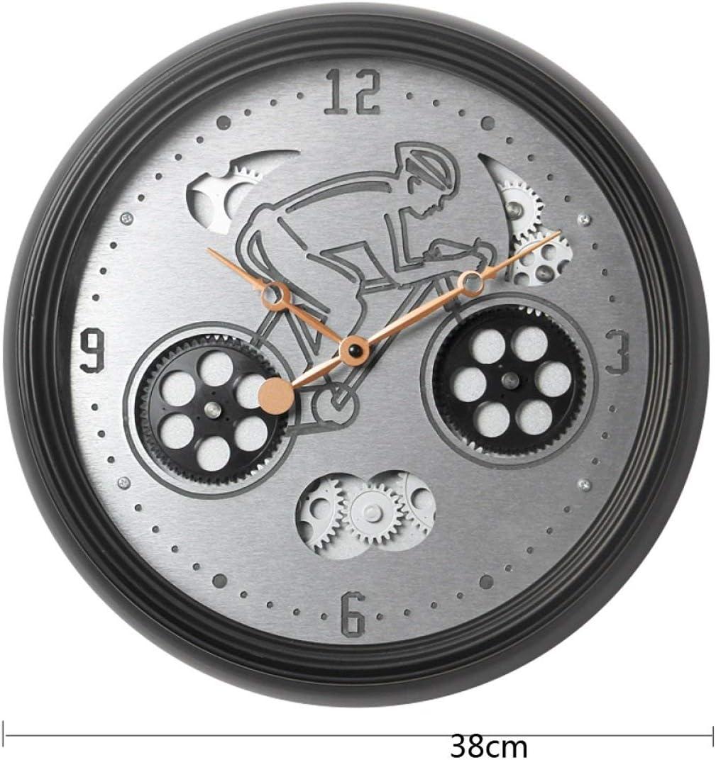 ShiSyan 掛け時計 ウォールクロッククリエイティブメカニカルギア時計メタル回転可能なパーソナリティ電子時計ウォールチャート おしゃれ 飾り お祝い 贈り物