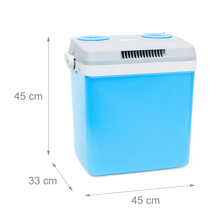 Relaxdays Frigorifero Portatile Capacita/´ 25 Litri e HBT 45 X 45 X 33 cm Azzurro
