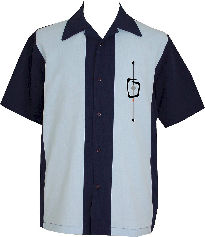 Lucky Paradise Men's Camp Vintage Short-Sleeve Cuban Style Bowling Shirt - Cozumel - Guayabera