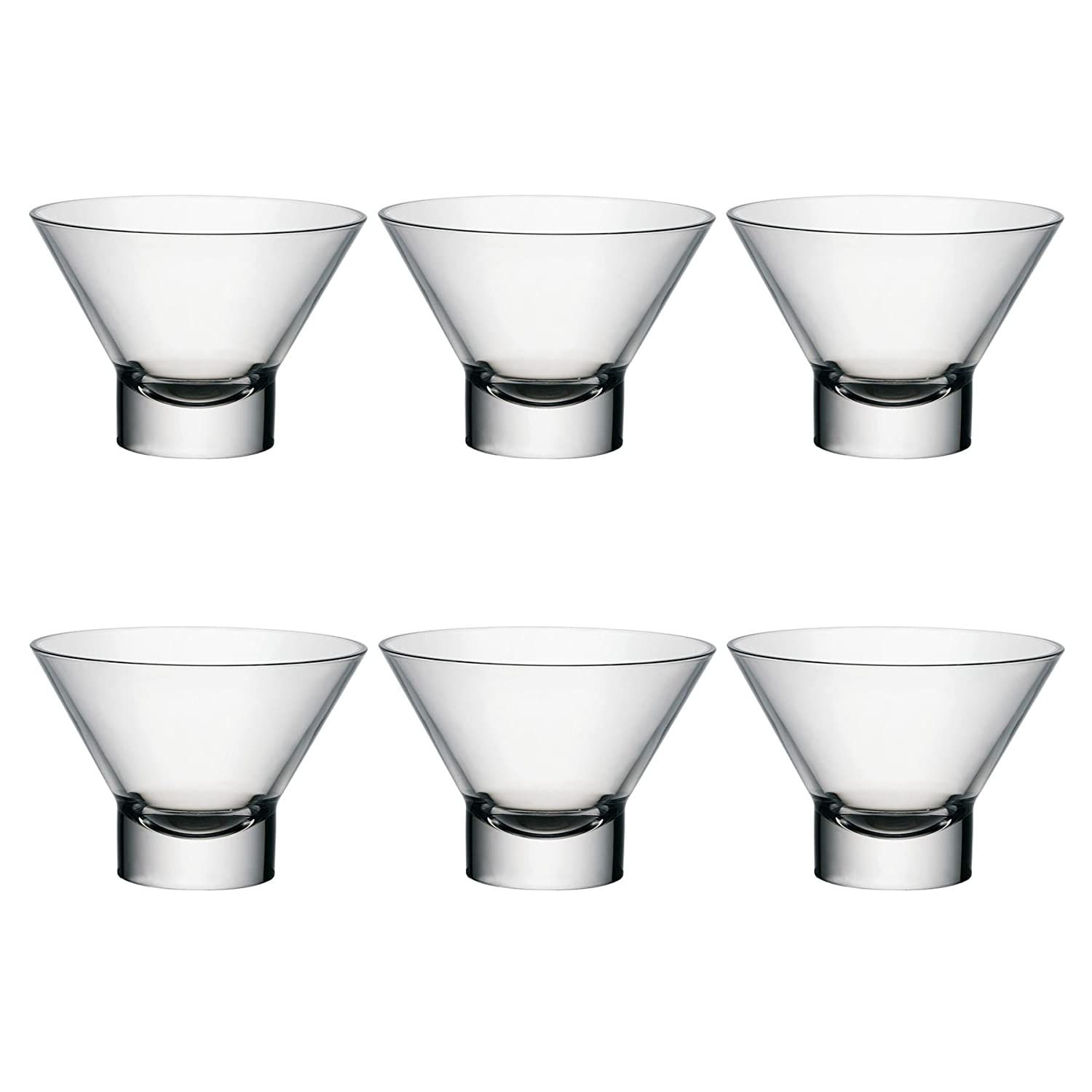Bormioli Rocco Ypsilon Dessert Food Dinner Bowls 130mm - Pack of 6