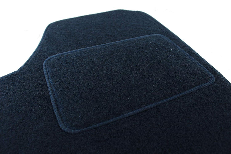Logo Tapis DE Sol Noir Velours Compatible avec Peugeot 308 2007-2012 J/&J AUTOMOTIVE