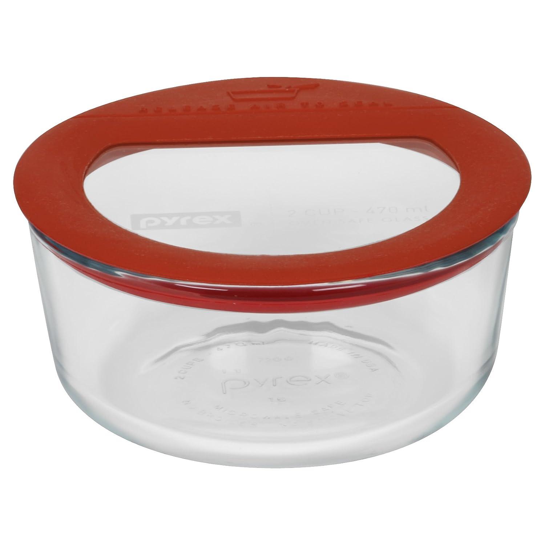 Amazoncom Pyrex Premium 7 Cup Round Glass Food Storage Cookware