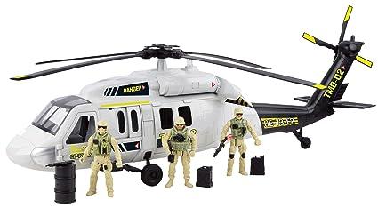 Motormax Giant Black Hawk Helicopter Playset