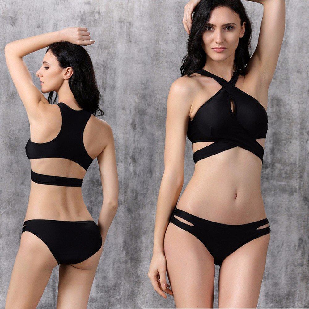 RF Bikini Im westlichen Stil 3 schwarze Punkt Frau Badeanzug