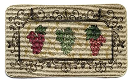 Grape Kitchen Rug 18x30in : grape kitchen rugs - hauntedcathouse.org