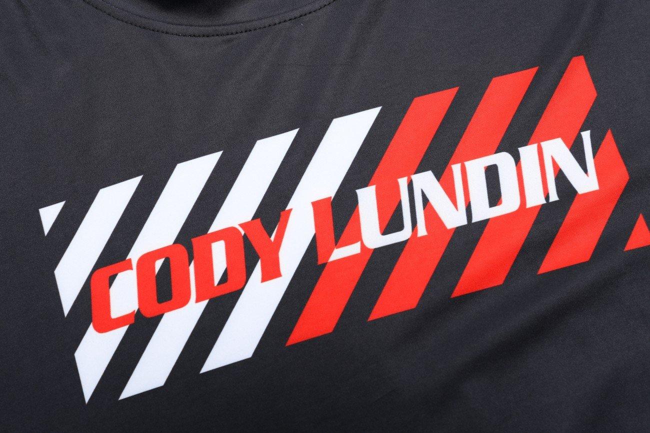 Cody Lundin Herren Mode Held Zeichen Logo Bunte Outdoor Sport Fitness Laufen Kurzarm
