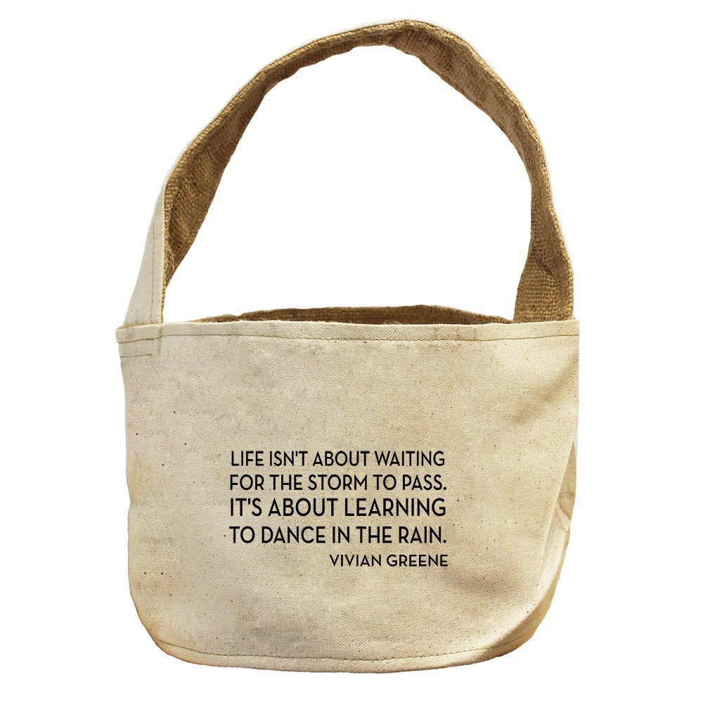 Style in Print About Learning To Dance In Vivian Greene Canvas and Burlap Storage Basket