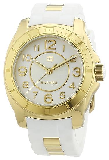 Tommy Hilfiger 1781309 - Reloj de Cuarzo para Mujer, Correa de Diversos Materiales Color Blanco: Amazon.es: Relojes