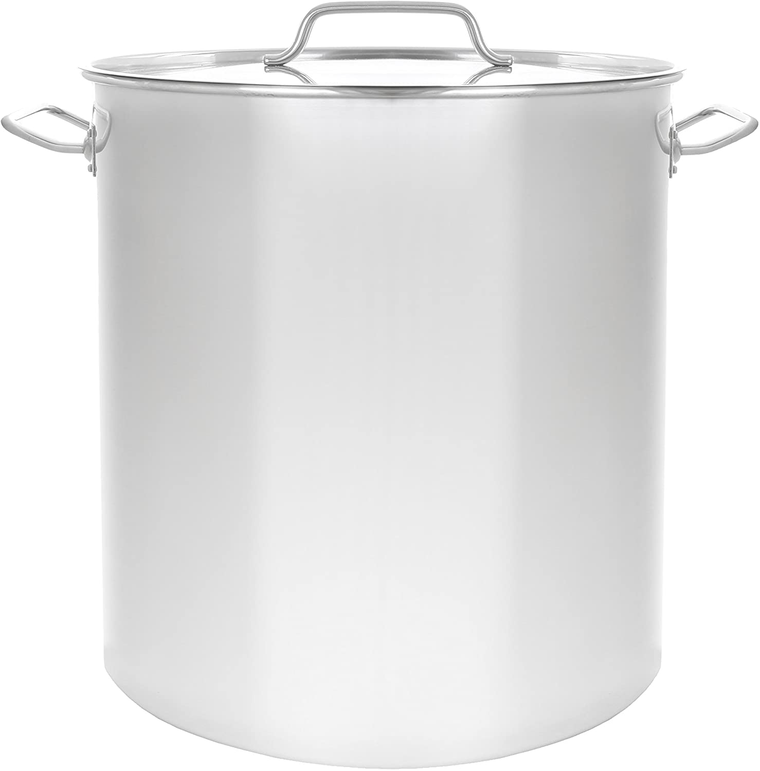 CONCORD Polished Stainless Steel Stock Pot Brewing Beer Kettle Mash Tun w/ Flat Lid (30 QT)