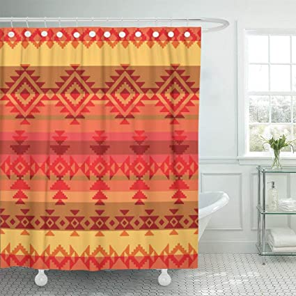 b796690f0c Amazon.com: PAUSEBOLL Red Native Traditional American Indian Pattern ...