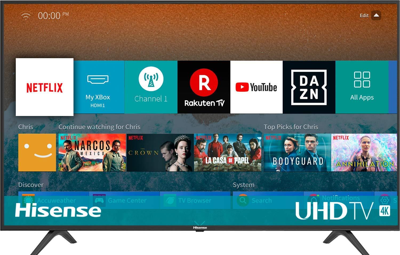 Hisense H55BE7000, Smart Tv 55' 4K UltraHD con Alexa Integrada, Negro [Clase de eficiencia energética A]