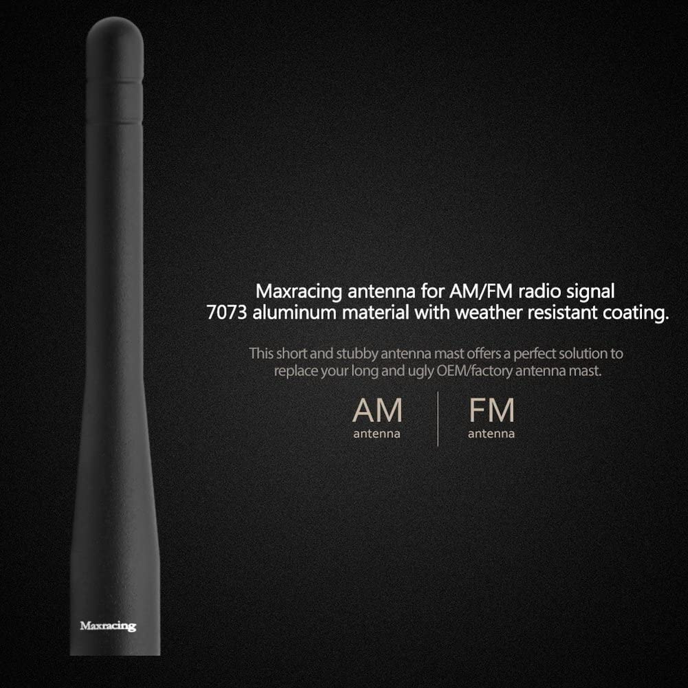 Maxracing Short Aluminum Antenna Compatible with 09 to 2020 Dodge RAM 1500