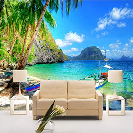 Amazon Com Dalxsh 3d Beautiful Seaside Landscape Nature