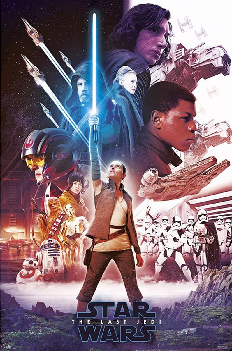 Grupo Erik Editores Poster 61 x 91.5 cm Star Wars VIII, Blue Saber 61 x 91.5 cm by Grupo Erik Editores