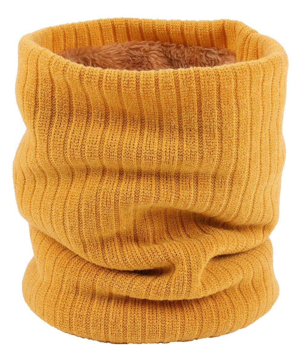 FEOYA Winter Loop Scarf Knit Double-Layer Thick Windproof Neck Warm Circle Scarf