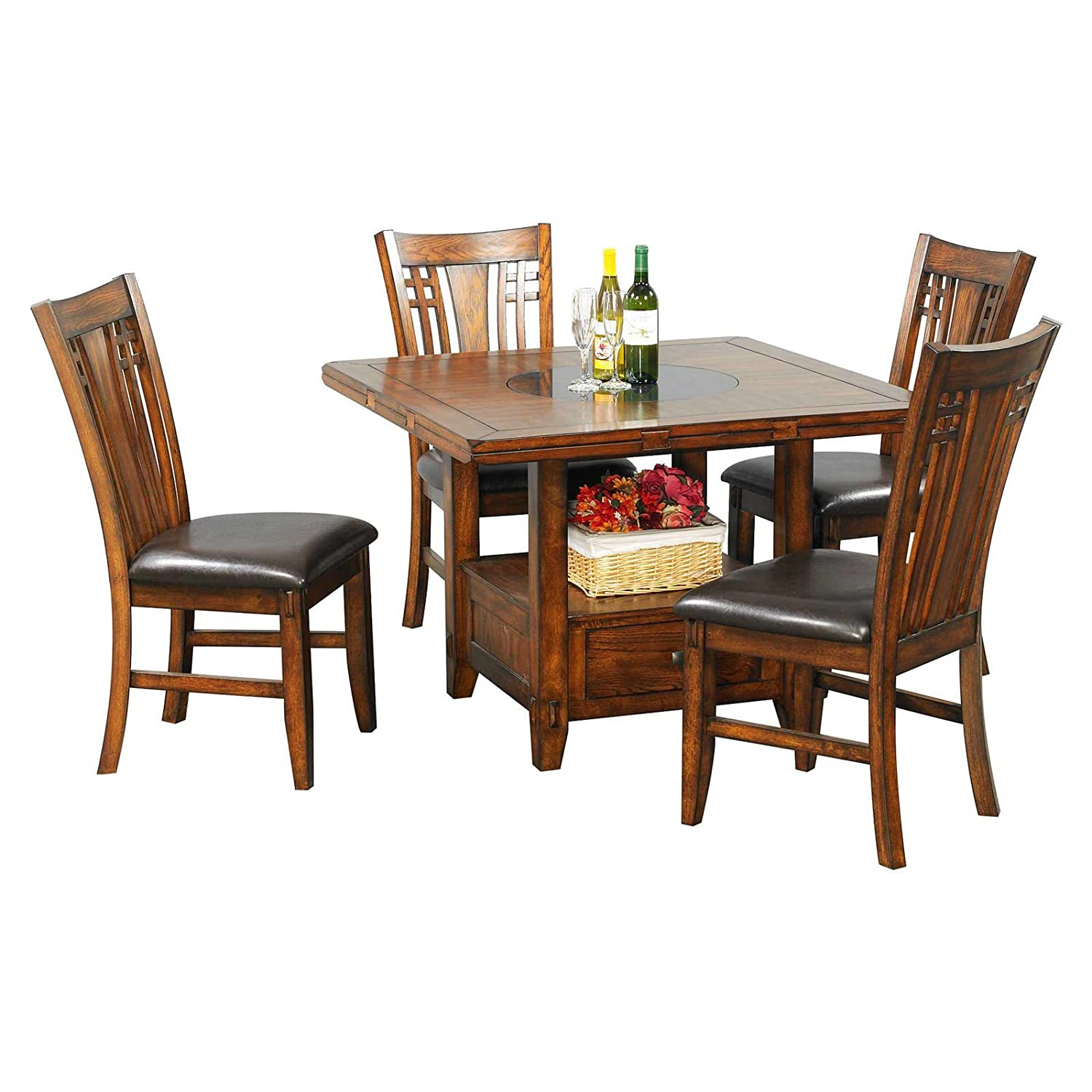 . amazoncom  zahara dining table w drop leaf  tables