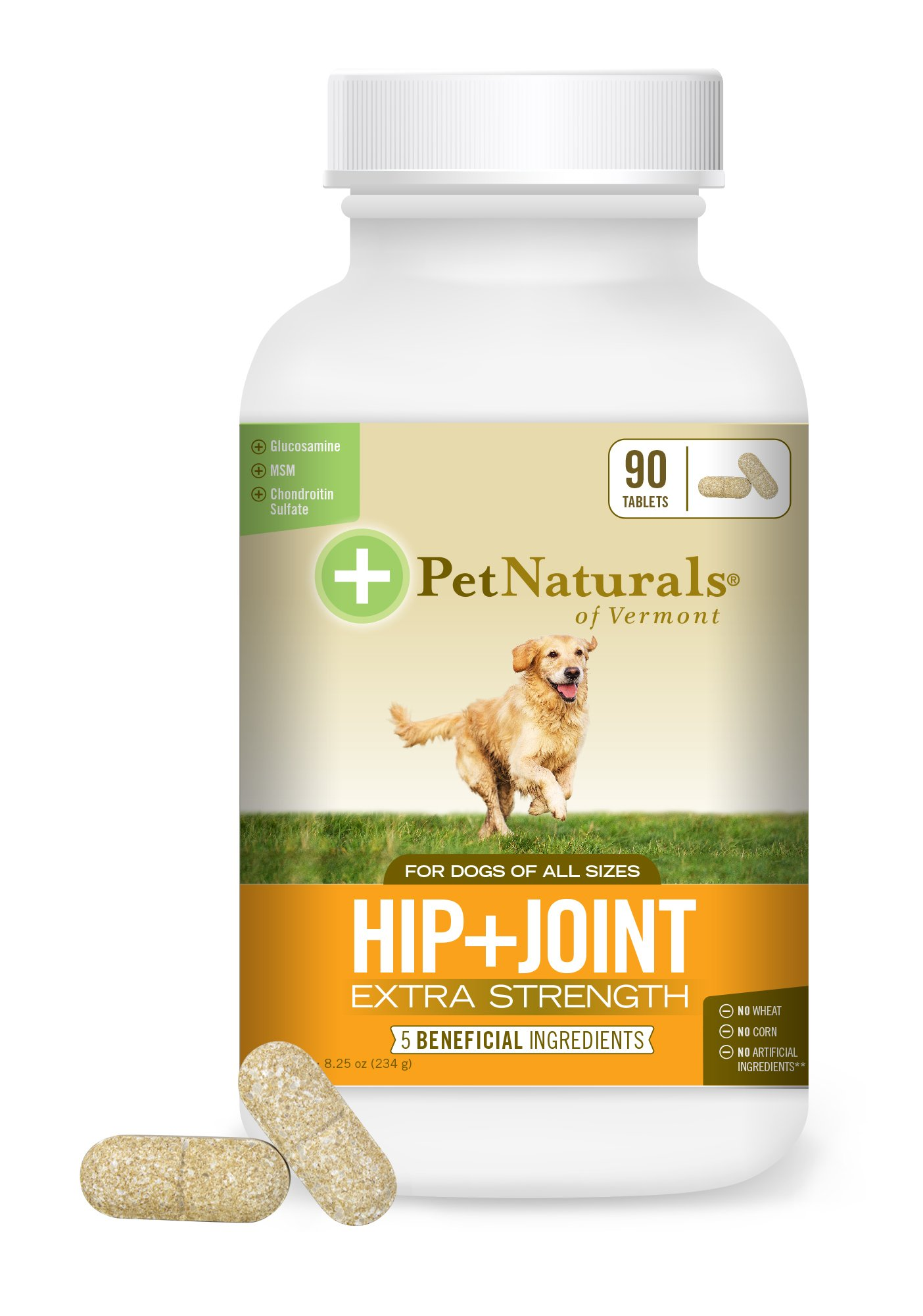 Pet Naturals of Vermont - Hip + Joint Extra Strength, Joint Supplement for Dogs, 90 Chewable Tablets
