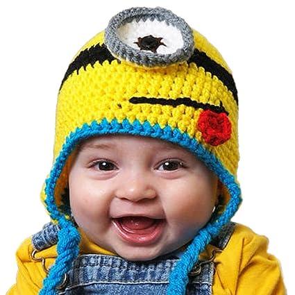 Sombrero Ganchillo Invierno Gorro Niños Minions Cap  Amazon.es  Bebé ee4e4182135