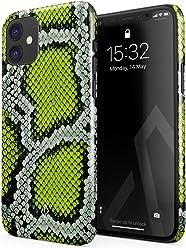 Tropical neon foliage print iPhone 11 case