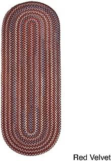 product image for Rhody Rug Augusta Space-Dye Wool Braided Rug Red Velvet 2' x 6' Runner Wool 6' Runner Runner, Indoor Red Runner
