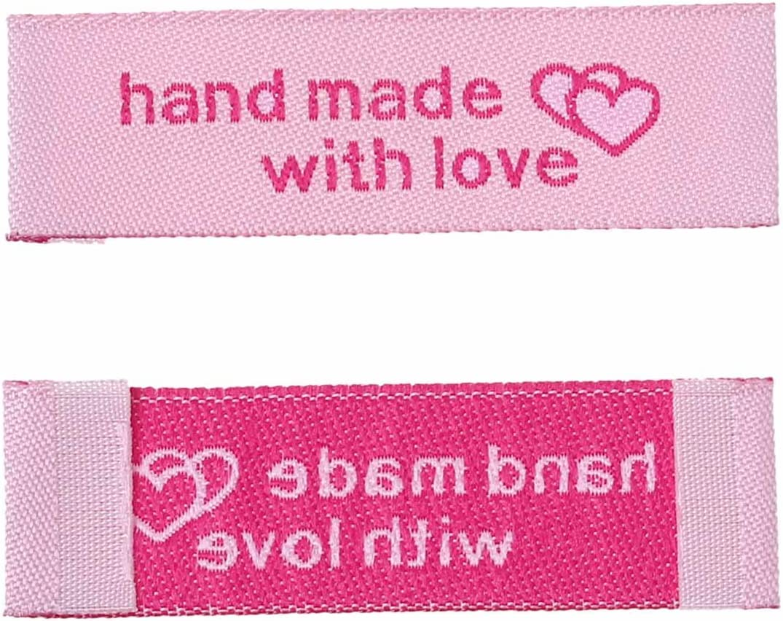 Textiletiketten Webetiketten Kleideretiketten SiAura Material 10x gewebte Handmade Etiketten Einn/ähetiketten