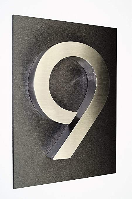 número de casa/placa acero inoxidable nº 9/V2 A/1 x Número ...