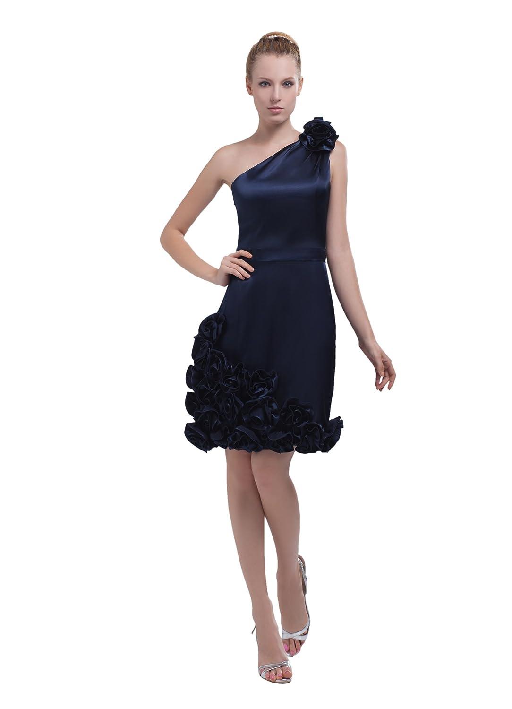 Dresstells Elegant Damen Kleid Kurz Satin Abendkleid Ballkleid mit ...