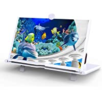 12 Inches 3D HD Screen Magnifier for Cell Phone,Phone Video Amplifier,Universal Smartphone Magnifier, Screen Enlarger…