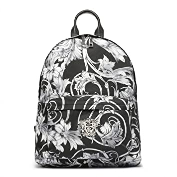8ac40c3f6d9f Versace Barocco Palazzo Rucksack Stamped with Silver New Versace Medusa  Emblem Made in Italy Original  Amazon.co.uk  Computers   Accessories