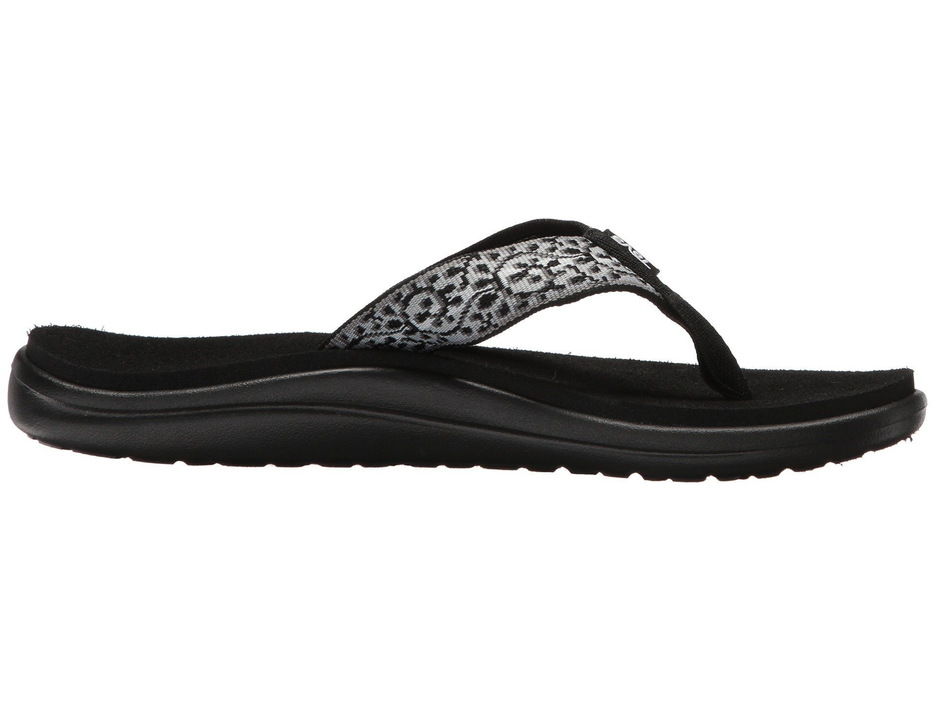 Teva Voya Flip Flop Women's Hiking 7 Companera Black-White by Teva