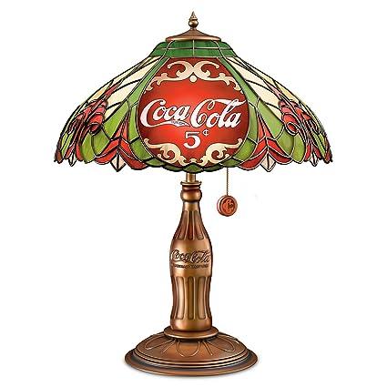 Coca Cola Stained Glass Lamp.Amazon Com Bradford Exchange The Coca Cola Classic Elegance