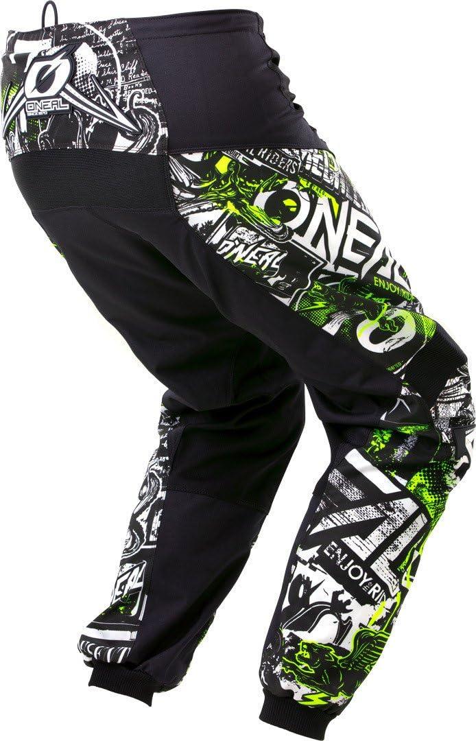 ONeal Unisex-Adult Element Attack Pant Black//Hi-Viz, Size 12