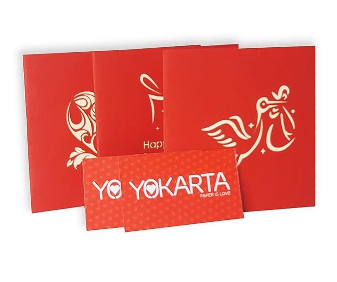 YOKARTA Tarjeta Pop-Up Felicitación 3D Cumpleaños con Sobre | Carta-Postal Original Hecho a Mano | Tarjeta de Nacimiento Kirigami | Tarjeta Feliz ...