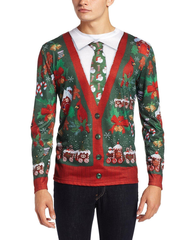 Ugly Xmas Cardigan Sweater Christmas Costume Medium