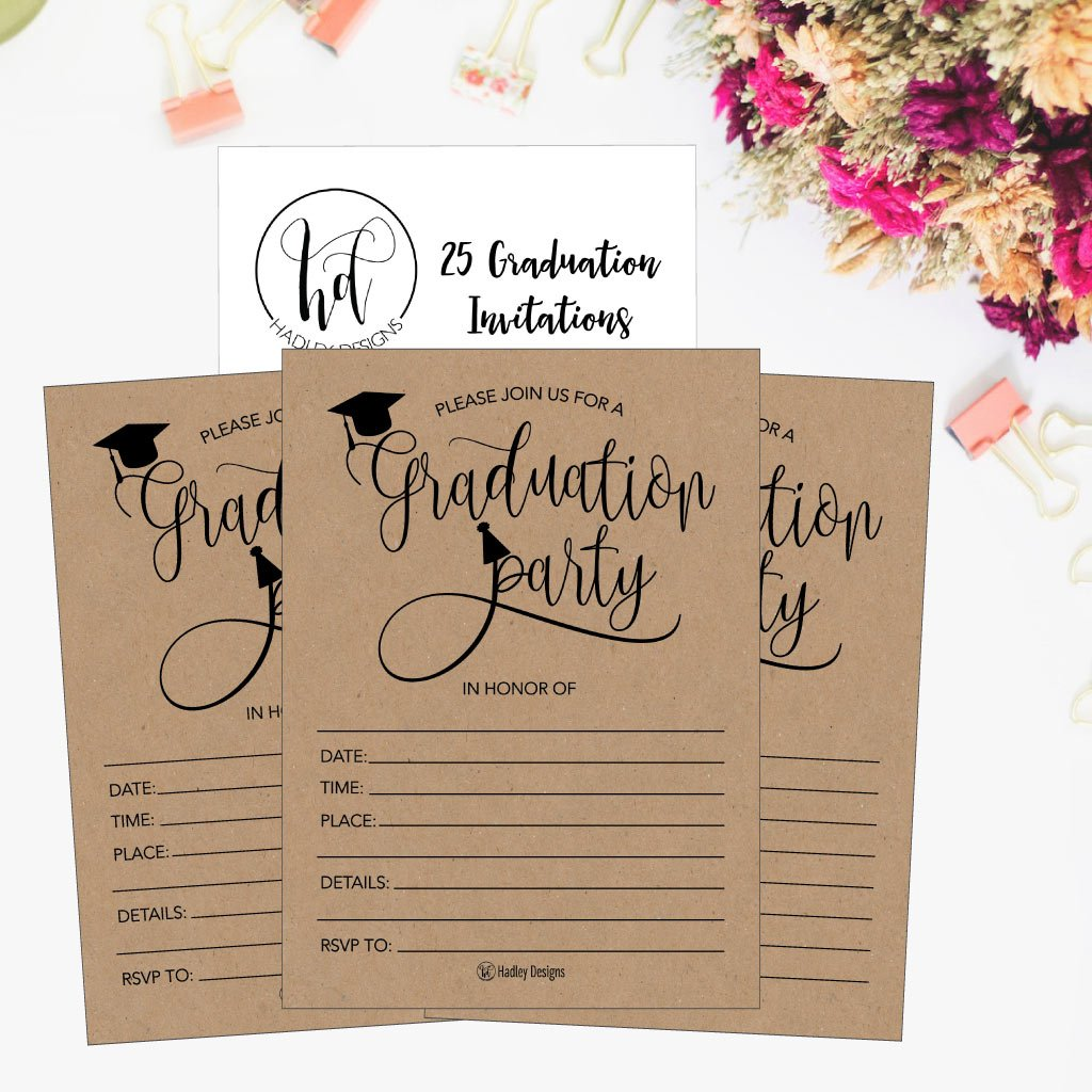 amazon com 25 rustic 2018 graduation party announcement invitations