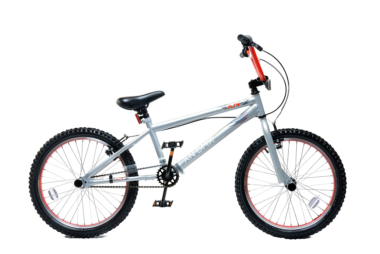 XN 2 Kids 20 Wheel 25/9T Gearing Freestyle BMX Bike Cycle Stunt Pegs Silver