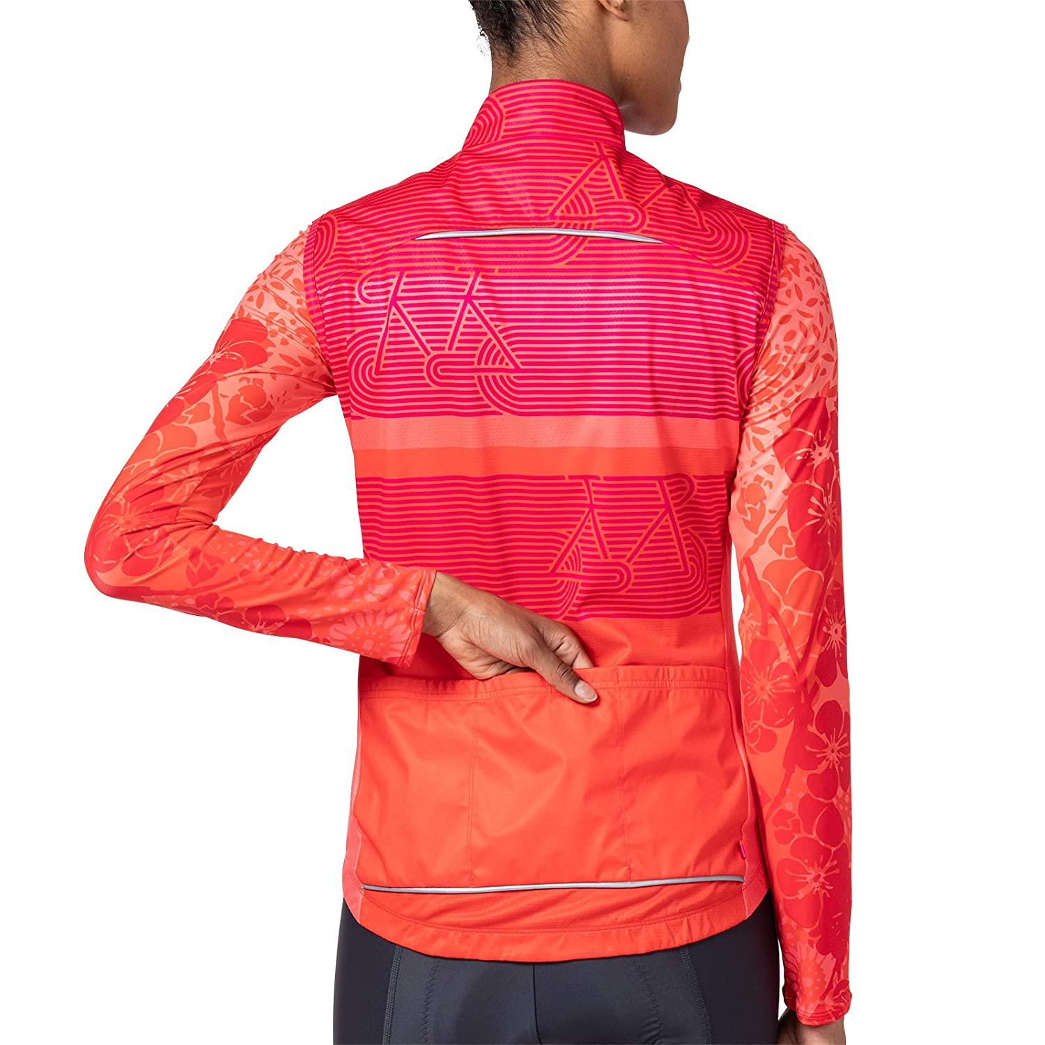 Terry Womens Signature Athletic Cycling Vest High Visibility Reflective Piping Lightweight Windproof