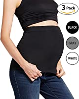Womens Maternity Belly Band(3 PK or 2 PK) Seamless Everyday Support Bands for Pregnancy